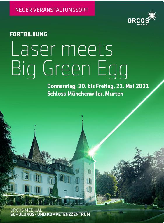 Laser meets Big Green Egg